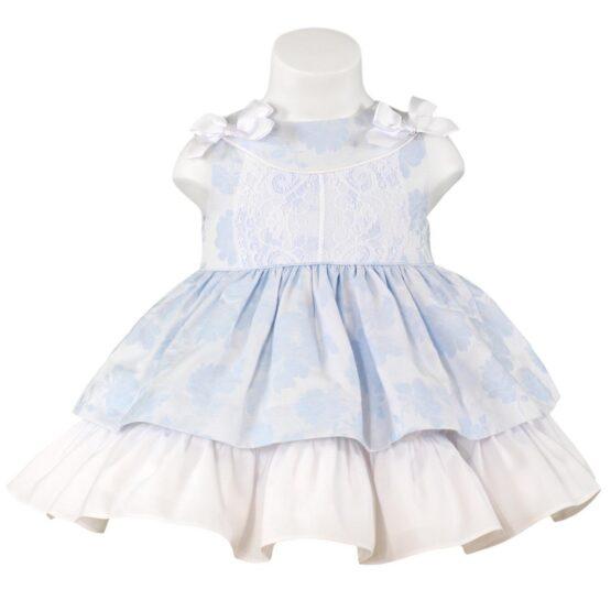 Rochita bebe albastra Miranda Textil