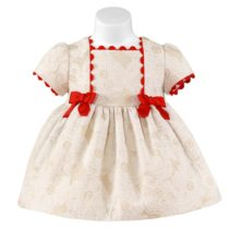 Rochita bebe crem Miranda Textil