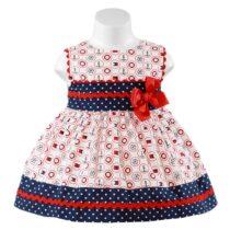 Rochiță albă cu cerculețe Miranda Textil