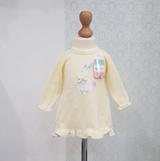 Rochiță galbenă tricotată Juliana