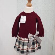 Rochiță vișinie tricotată Juliana