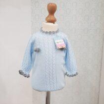 Salopetă bleu tricotată