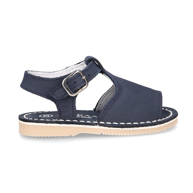 mai bine informatii pentru top fashion Sandale albastre din piele pentru copii