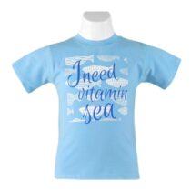 Tricou albastru băieței Miranda Textil
